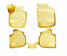 Guminiai kilimėliai 3D SKODA Rapid 2013->, 4 pcs. /L57003B /beige