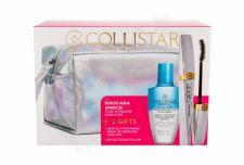 Collistar Shock, rinkinys blakstienų tušas moterims, (blakstienų tušas 8 ml + Gentle Two Phase 50 ml + kosmetika krepšys), (Black Shock)