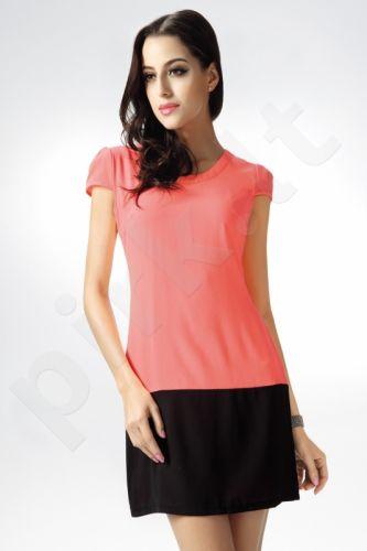 4226-1 Dvispalvė suknelė rožinė/juoda
