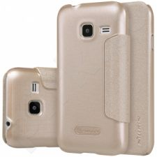 Samsung Galaxy J1(2016) atverčiamas dėklas Sparkle Nillkin auksinis