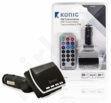 Konig FM transmitter black with remote