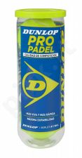 Padel teniso kamuoliukai PRO Padel 3-tin