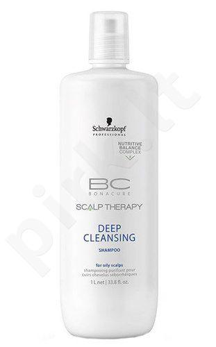 Schwarzkopf BC Bonacure Scalp Therapy Deep Cleansing šampūnas, kosmetika moterims, 1000ml