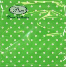 Servetėlės Dots Intense Green