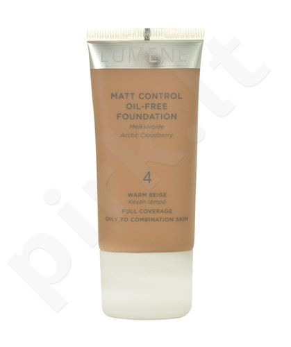 Lumene Matt Control Oil-Free Foundation, kosmetika moterims, 30ml, (4 Warm Beige)