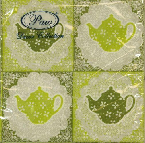 Servetėlės Tasty Tea Green