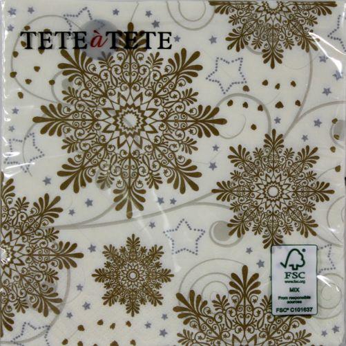 Servetėlės Tat Bn Snowflakes Cream