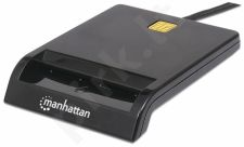 Manhattan Kortelių skaitytuvas Smart USB išorinis kontaktinis