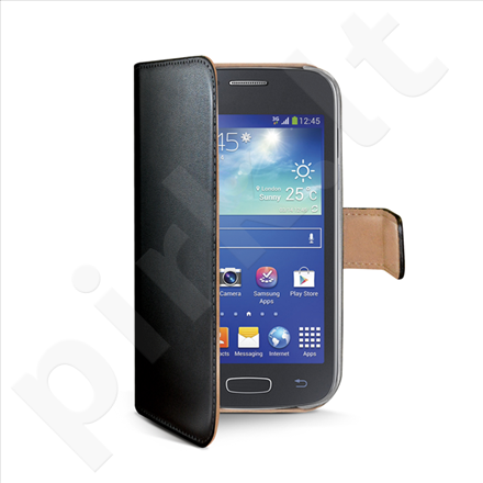 Celly wallet case for Samsung Galaxy Ace 4 (Black)