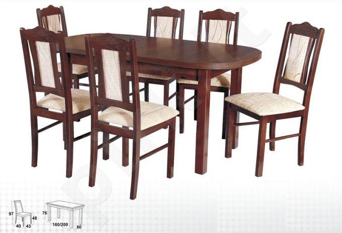 Stalas WENUS-P I + 6 kėdės BOSS V