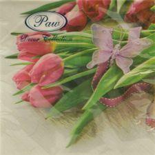 Servetėlės Fuchsia Tulips
