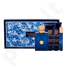 Versace Pour Homme Dylan Blue rinkinys vyrams, (EDT 100 ml + dušo želė 100 ml + losjonas po skutimosi 100 ml + EDT 10 ml)