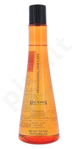 Phytorelax Laboratories Macadamia momentinio blizgesio šampūnas, kosmetika moterims, 250ml