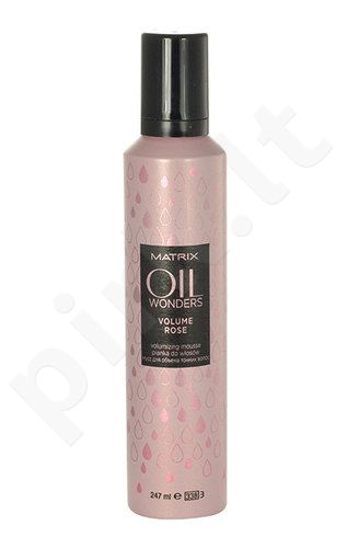 Matrix Oil Wonders Volume Rose Volumizing Mousse, kosmetika moterims, 247ml