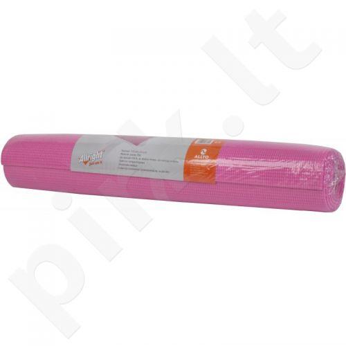 Kilimėlis jogai Allright 172x61x0,4cm rožinės spalvos