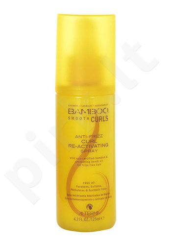 Alterna Bamboo Smooth Curls Anti-Frizz Re-Activating purškiklis, kosmetika moterims, 125ml
