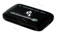 Išorinis kortelių skaitytuvas iBOX 806 USB, Juodas, 6 lizdai