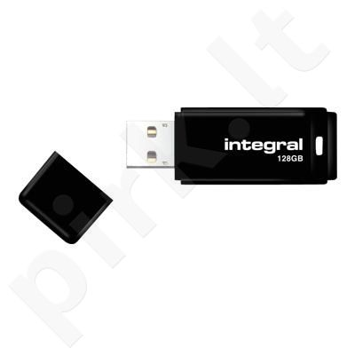 Integral Flashdrive Black 128GB USB 2.0 with removable cap