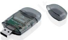 Išorinis kortelių skaitytuvas iBOX R015 USB, Juodas, 2 lizdai