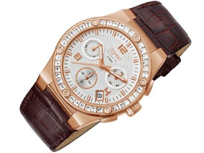 Esprit EL101822F07 Pherousa Rose Brown moteriškas laikrodis Chronograph