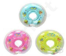 Pripučiamas maudymosi ratas kūdikiams, spalvos: mėlyna, geltona,rožinė,salotinė