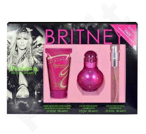 Britney Spears Fantasy rinkinys moterims, (EDP 30ml + 10ml EDP + 50ml kūno pienelis)