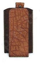 15-RG universalus dėklas 3 Ryg šviesiai rudas su krokodilo odos imitacija