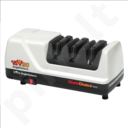Chef`sChoice M1520 Knife sharpener, 100% diamond abrasives & flexible stropping/polishing discs, 3 Stage, Electric