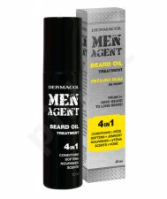 Dermacol Men Agent, Beard Oil 4in1, barzdos aliejus vyrams, 50ml