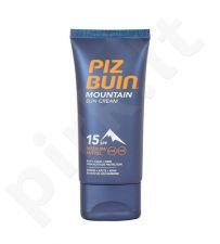 Piz Buin Mountain Sun kremas SPF15, kosmetika moterims, 50ml