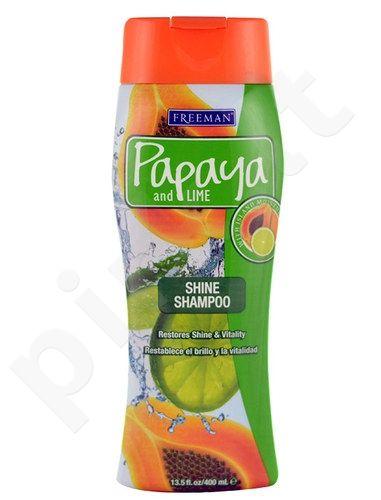 Freeman Shine šampūnas Papaya And Lime, kosmetika moterims, 400ml