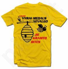 """Marškinėliai """"Tikri vyrai medaus nevalgo"""""""