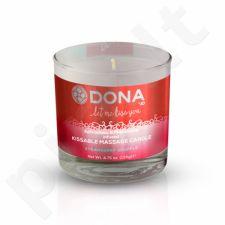 Dona masažo žvakė (Braškių sufle skonio)