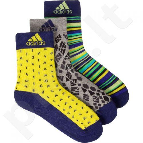 Kojinės Adidas Graphic Junior 3 poros AB2272