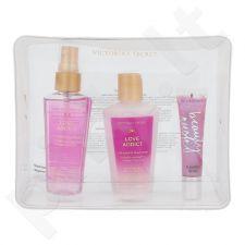 Victoria´s Secret Love Addict rinkinys moterims, (Maitinamasis kūno purškiklis 60 ml + kūno losjonas 60 ml + lūpdažis Beauty Rush So Jelly 13g + kosmetikos krepšys)