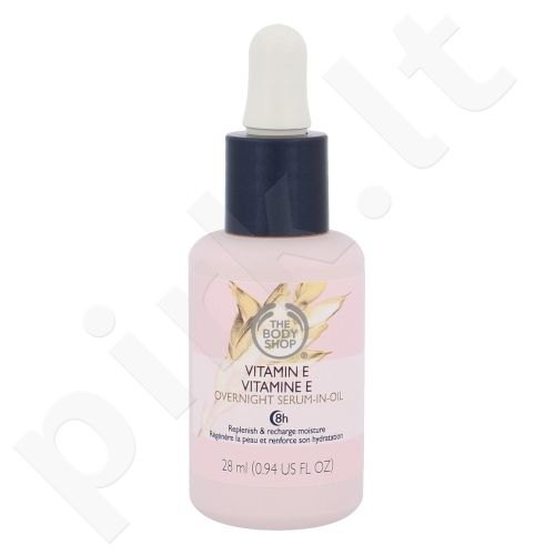 The Body Shop Vitamin E naktinis veido serumas, kosmetika moterims, 28ml