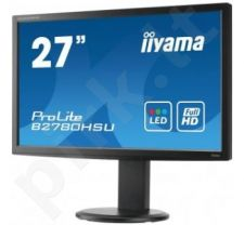 Monitorius Iiyama ProLite B2780HSU 27'' LED FHD, DVI, HDMI, USB, HAS, Garsiak.