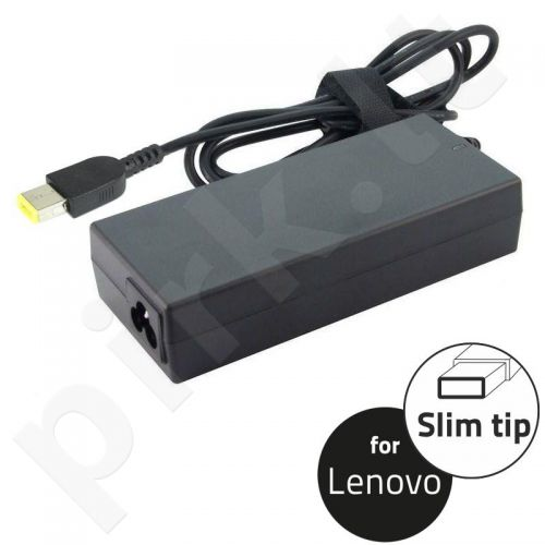 Qoltec Notebook Power Supply for Lenovo 65W | 20V | 3.25A | Slim tip