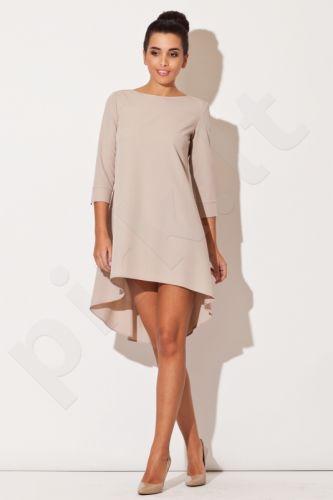 Suknelė K141  smėlio atspalvio (S)