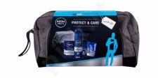 Nivea Men Protect & Care, rinkinys balzamas po skutimosi vyrams, (balzamas po skutimosi 100 ml + skutimosi želė 200 ml + Anti-perspirant 50 ml + lūpų balzamas Labello Active For Men 4,8 g + kosmetika krepšys)