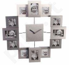 Unikalus laikrodis - 12 nuotraukų rėmelis