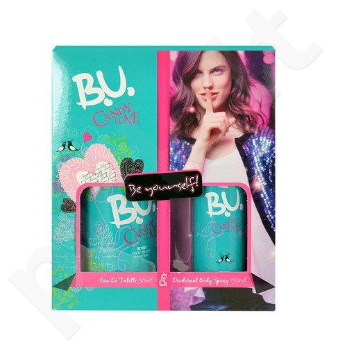B.U. Candy Love rinkinys moterims, (EDT 50ml + 150ml dezodorantas)