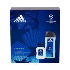 Adidas Dare Edition, UEFA Champions League, rinkinys tualetinis vanduo vyrams, (EDT 50 ml + dušo želė 250 m)