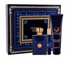 Versace Pour Homme Dylan Blue, rinkinys tualetinis vanduo vyrams, (EDT 100 ml + EDT 10 ml + dušo želė 150 ml)