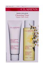 Clarins Gentle Foaming Cleanser, rinkinys prausimosi putos moterims, (prausiamasis pienelis 125 ml + prausiamasis vanduo valomasis losjonas 200 ml)