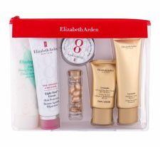 Elizabeth Arden Skin Protectant, Eight Hour Cream, rinkinys kūno balzamas moterims, (kūno balzamas 50 ml + veido serumas 3,2 ml + lūpų balzamas 13 ml + dieninis kremas 15 ml + prausiamasis kremas 50 ml + kūno kremas 100 ml + kosmetika krepšys)