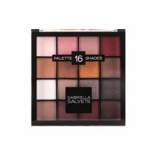 Gabriella Salvete Palette 16 Shades, akių šešėliai moterims, 20,8g, (02 Pink)