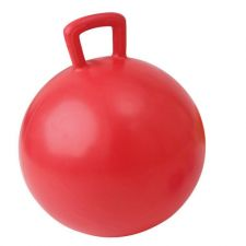 Gimnast. kamuolys su rankena JUMPING BALL 55cm red