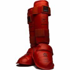 Karate apsaugos blauzdai ir pėdai WKF L red
