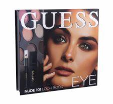 GUESS Eye, Look Book, rinkinys akių šešėliai moterims, (akių šešėliai 12 x 1,16 g + blakstienų tušas Black 4 ml + akių kontūrų pieštukas Black 0,5 g + Mirror), (101 Nude)